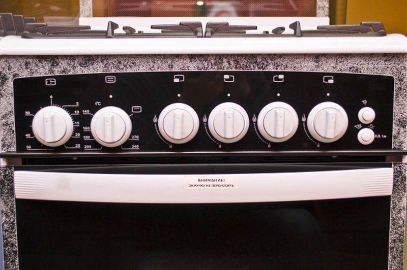 Газовая плита Gefest 3300 - панель управления