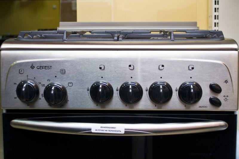 Газовая плита Gefest 3200 К62 - панель управления