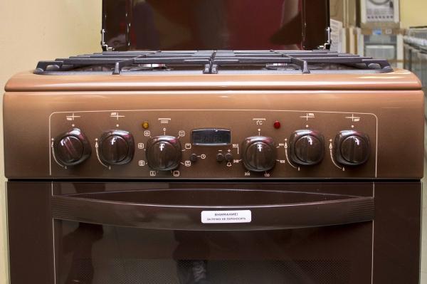 Газоэлектрическая плита Gefest 6102-03 0001 (6102-03 К) - панель управления