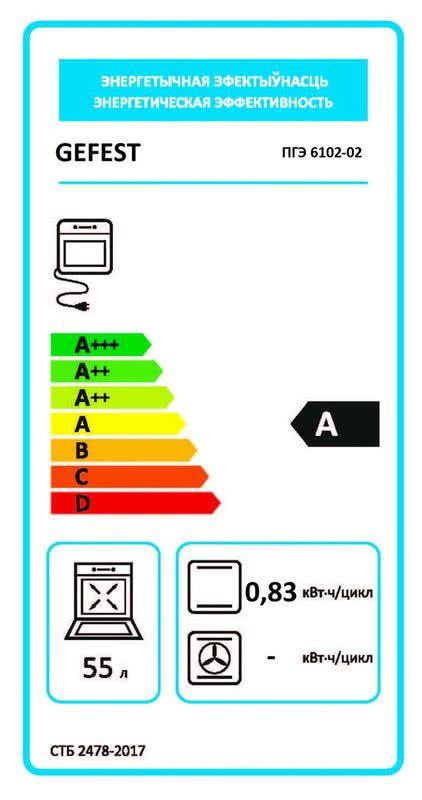 Газоэлектрическая плита Gefest 6102-02