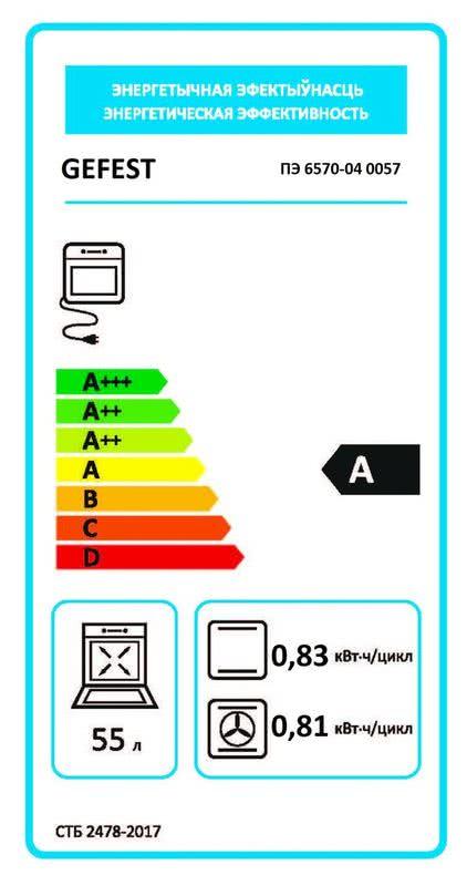 Электрическая плита Gefest 6570-04 0057