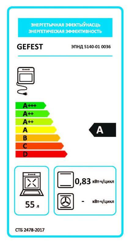 Электрическая плита Gefest 5140-01 0036