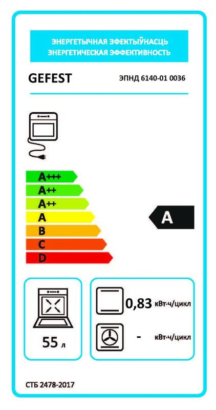 Электрическая плита Gefest 6140-01 0036