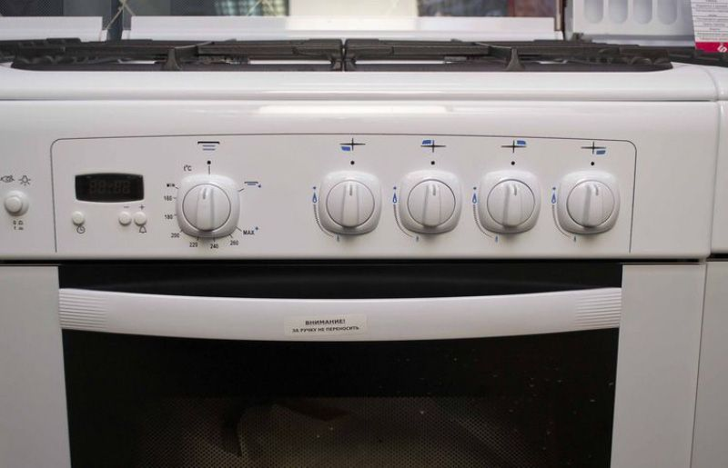 Газовая плита Gefest 6100-03 0002 (6100-03 С) - панель управления
