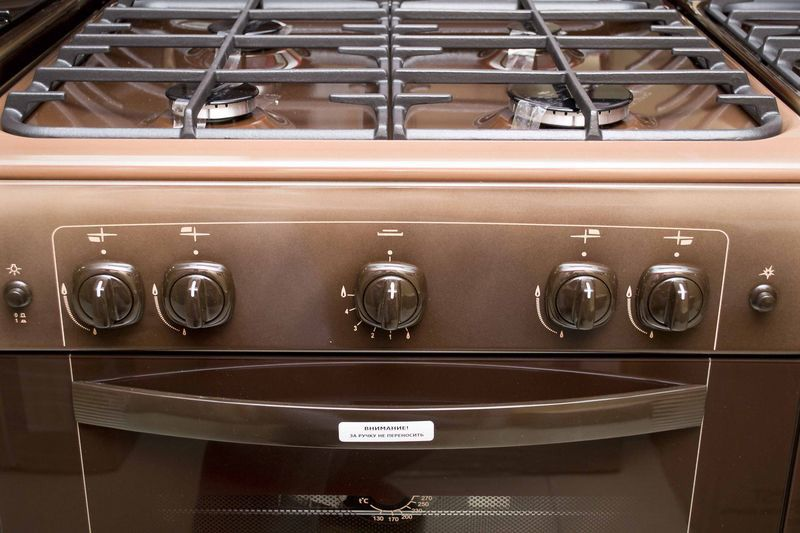 Газовая плита Gefest 6100-01 0001 (6100-01 К) - панель управления