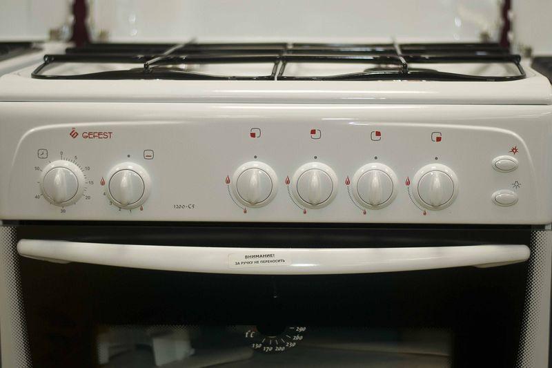 Газовая плита Gefest 1200 С5 - панель управления