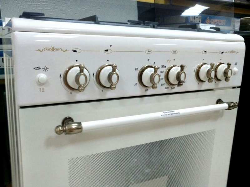 Газовая плита Gefest 6100-02 0182 панель управления с новыми ручками