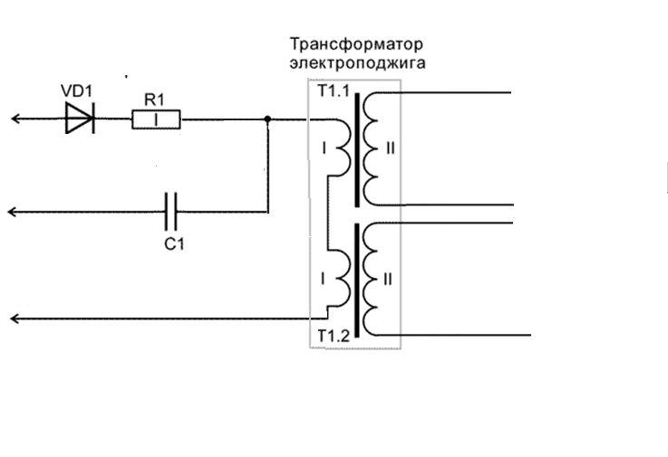 Схема поджига газовой плиты