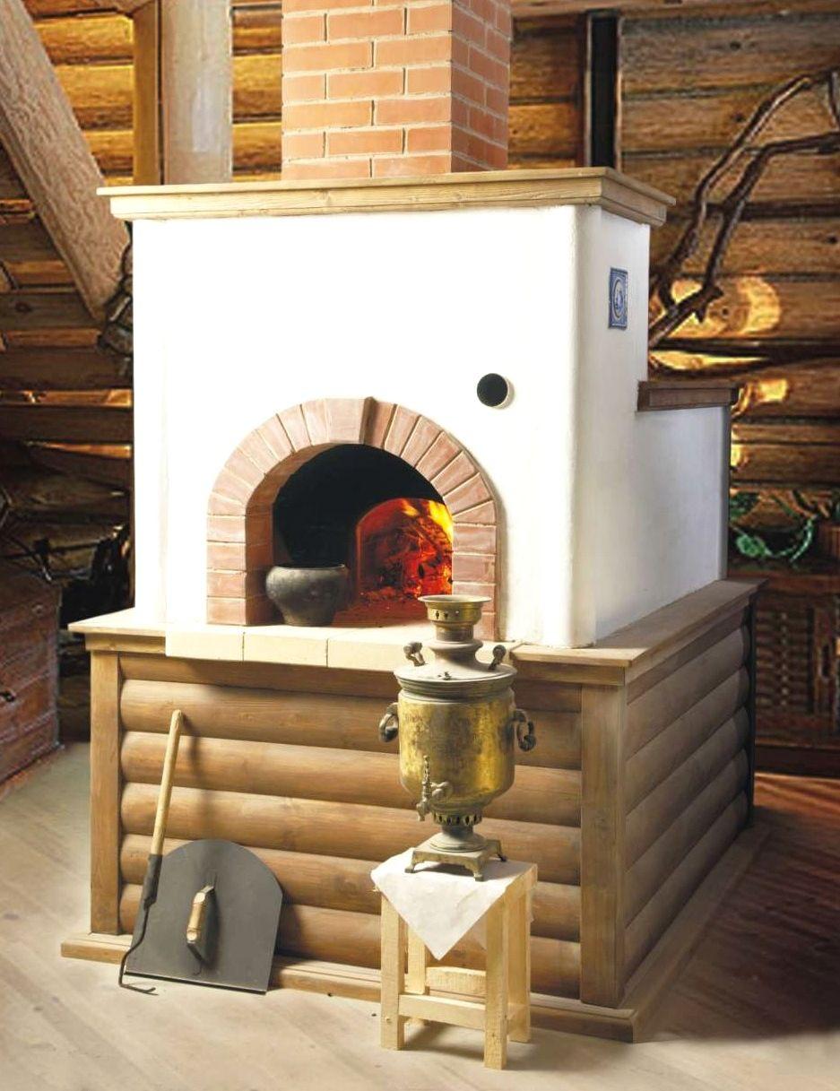 Как украсить печь на даче